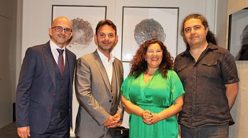 Soldan Sağa: Ponderfair ortaklarından Marco Neto, Companie des Alpes'in Uluslararsı Satıs Direktörü Frédéric Gouguidis, Ponderfair ortaklarından Ela Atakan Neto ve Tolga Tolgay