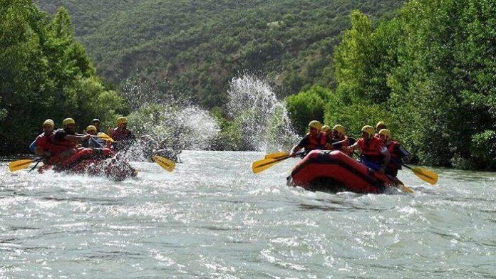 Dünya Rafting Şampiyonası Tunceli'de başladı.