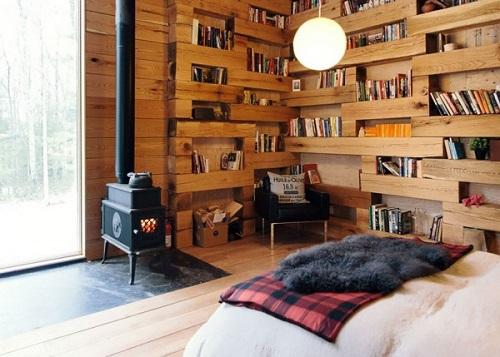 Her odaya bir kütüphane