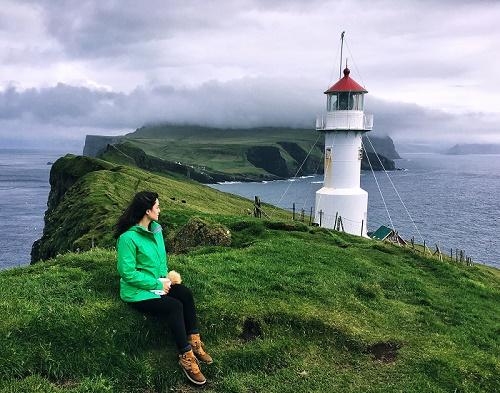 Mykines Adası deniz feneri-Faroe Adaları
