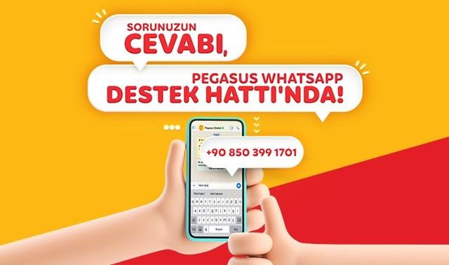 Pegasus'tan WhatsApp destek hattı